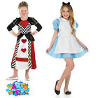 Kids Girls Alice Costume Queen of Hearts Fancy Dress Book Day Week Outfit