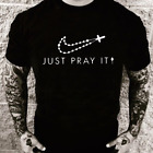 Just Pray It Christian Religious Cross Love t-shirt God Prayer Bible