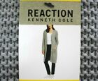 KENNETH COLE REACTION WOMEN'S PATCH POCKET KNIT COATIGAN GREY VARIETY SIZE NEW