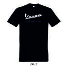 Vespa logo T Shirt its way of life scooter rollers italia mens tee shirt gts 125