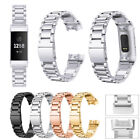For Fitbit Charge 3/3 SE Bands,Stainless Steel Bracelet Metal Watch Wrist Band