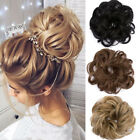 Newly Women Hair Buns Scrunchies Big Flower Hairpiece Curly Chignon Synthetic