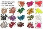 Kyпить 100 Slotted Tungsten Fly Tying Beads - Pick Size & Color на еВаy.соm