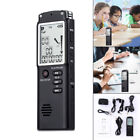 32GB Digital Voice Recorder Wiederaufladbarer Audio Sound MP3-Player Diktiergerä