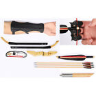 Traditional 25/30/40 lbs Takedown Recurve Bow w/ Arrows Finger Tab Arm Guard Set