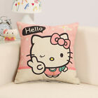 Cute Hello kitty Cat Cartoon Pattern Printing Pillow Covers 18'' for Sofa Car