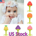 Baby Infant Silicone Fruit Grape Strawberry Teether Teething Chew Ring Toys Gift