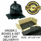STRONG HEAVY DUTY BLACK BIN LINERS RUBBISH BAGS WASTE REFUSE SACKS VARIOUS SIZES