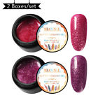 30Colors RBAN NAIL Holographic Glitter Gel Nail Polish Soak Off Sequins Manicure