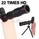 22X Dual Zoom Telephoto Telescope 4K HD Phone Camera Lens+Tripod+Clip For Mobile