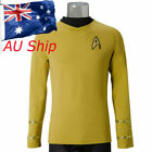 Cosplay Star Trek TOS Captain Kirk Shirt Uniform Yellow Star Trek Top Costumes on eBay