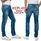 Jeans REPLAY uomo DONNY elastico slim tapered fit pantaloni power stretch  MA900