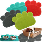 Puppy Dog Paw Shape Placemat Pet Cat Dish Bowl Feeding Food PVC Mat Wipe Clean