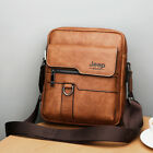 Men Messenger Bags Crossbody Business Casual Spliter Leather Shoulder Bag Large