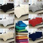 1000 TC Egyptian Cotton 3 PC Duvet (Quilt) Set+Fitted Sheet UK King Solid Stripe