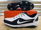 Nike React Vapor 2 Golf Shoes White Navy Blue Metallic SZ ( BV1135-100 )