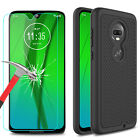 For Motorola Moto G7/G7 Plus Case Hard Shockproof Cover + Glass Screen Protector