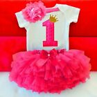 Baby Summer Girl Dress First 1st Birthday Cake Smash Outfits Sets Romper Tu Tu