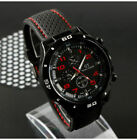 Infantry Military WATCH Army Mens Sport Canvas Quartz Wrist BLACK RED image