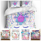 Magic Unicorn Duvet Item with Grateful Case Bedding Set Single Double King New image