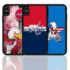 For iPhone 6 7 8 X XR XS Plus Washington Capitals Ice Hockey Silicone Case Cover $9.01 USD on eBay