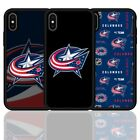 For iPhone 6 7 8 X XR XS Columbus Blue Jackets Ice Hockey Silicone Case Cover $9.58 USD on eBay