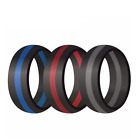Kyпить Silicone Wedding Engagement Ring Men Women Rubber Band Gym Sport Flexible на еВаy.соm