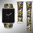 Pittsburgh Penguins Apple Watch Band 38 40 42 44 mm Series 1 2 3 4 Wrist Strap 1 $32.99 USD on eBay