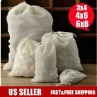 3x4 4x6 6x8 8x10 10x12inch Cotton Muslin Drawstring Bags herb soap tea coffee