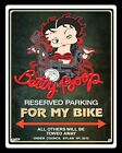BETTY BOOP MOTORCYCLE MOTORBIKE RESERVED PARKING METAL SIGN TIN WALL PLAQUE 969 £6.99 GBP on eBay