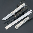 Outdoor Stiletto Milano Tactical Folding Knife Pocket Blade Hunting Fishing  US