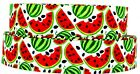 "Grosgrain Ribbon 7/8"" ,1.5"" & 3"" Summer Watermelon Fruit Slices Fun Printed."