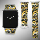 Buffalo Sabres Apple Watch Band 38 40 42 44 mm Fabric Leather Strap 01 $29.97 USD on eBay