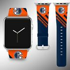 Edmonton Oilers Apple Watch Band 38 40 42 44 mm Fabric Leather Strap 02 $29.97 USD on eBay