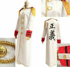 NEW One Piece Navy Marine Justice Cloak Cosplay Costume Free shipping