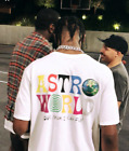 TRAVIS SCOTT ASTROWORLD T-SHIRT white tour concert merch off hip hop supreme hat image