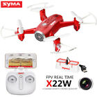 Syma X22W Mini RC Drone with Camera 2.4G 4CH WIFI FPV Real Time Hover Quadcopter