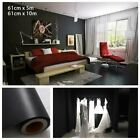 5m 10m Gloss Black White Self Adhesive Vinyl Film Kitchen Untis Doors Covering