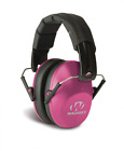 Pink Ear Protection Folding Muff Lightweight Women Shooting Gun Range Work