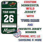 CUSTOMIZE MINNESOTA WILD RED PHONE CASE COVER FITS iPHONE SAMSUNG MOTO LG etc $26.98 USD on eBay