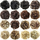 Used, Real Natural Curly Messy Bun Hair Piece Scrunchie New Fake Hair Extensions Sight for sale  Shipping to South Africa