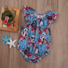 UK Infant Baby Girls Floral Romper Bodysuit Jumpsuit Star Wars Outfit Clothes AN