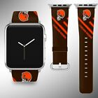 Cleveland Browns Apple Watch Band 38 40 42 44 mm Series 5 1 2 3 4 Wrist Strap 05 $32.99 USD on eBay