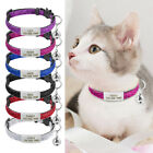 Sequins Puppy Kitten Cat Breakaway Collar  Tag Engraved Safety Quick Release