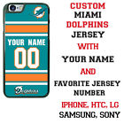 MIAMI DOLPHINS NFL PHONE CASE COVER WITH CUSTOM NAME&# FOR iPHONE SAMSUNG LG etc $27.98 USD on eBay
