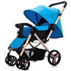 Two-way Baby Stroller Foldable Carriage Infant Cart Sitting & Lying Pushchair