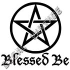 Blessed Be Pentacle Vinyl Sticker Decal Wicca Witch Nature - Choose Size & Color