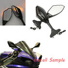 LED Turn Signal Integrated Motorcycle Mirrors For 2015 2016 Kawasaki Ninja 650 $42.7 USD on eBay