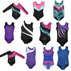 Girls Gymnastics Leotard Dress Ballet Dance Tutu Skirt Dancewear Elastic Costume