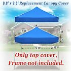 EZ Pop Up Canopy Top Replacement Outdoor Sunshade Cover for 10'x10' Tent Gazobo